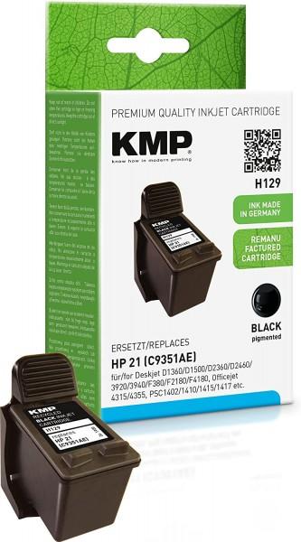 KMP H129 schwarz Tintenpatrone ersetzt HP Deskjet HP21 (9351AE)