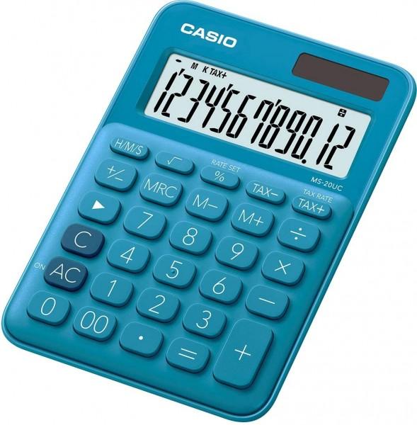 Casio MS-20UC-BU Tischrechner, 12-stellig, in zehn Farbvarianten