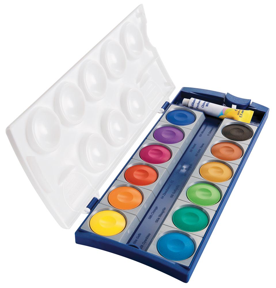 Vorschau: Pelikan K12 Deckfarbkasten 12 Farben u. 1 TB Deckweiß