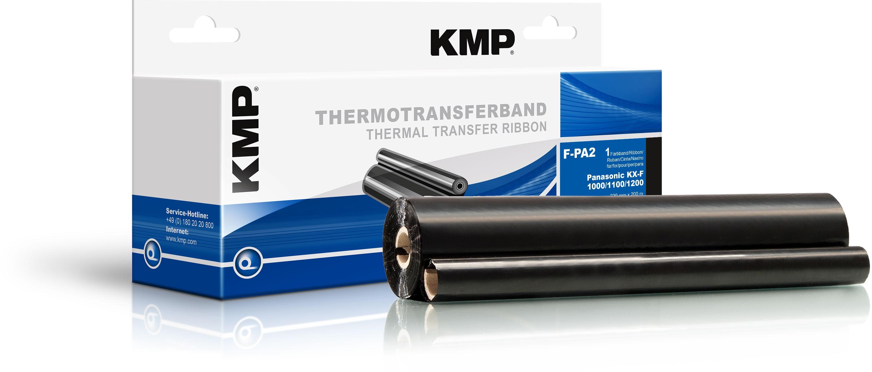 KMP TTR Farbband für Panasonic KX-F 1000 / 1100 / 1200 schwarz