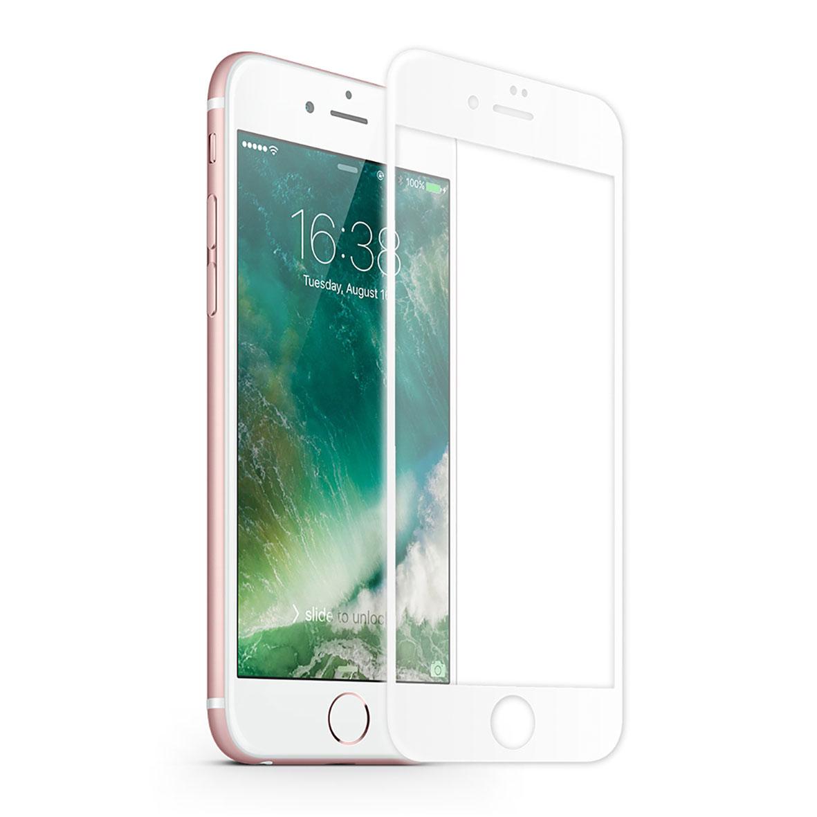 KMP Schutzglas für Apple iPhone 7 Plus weiß / white
