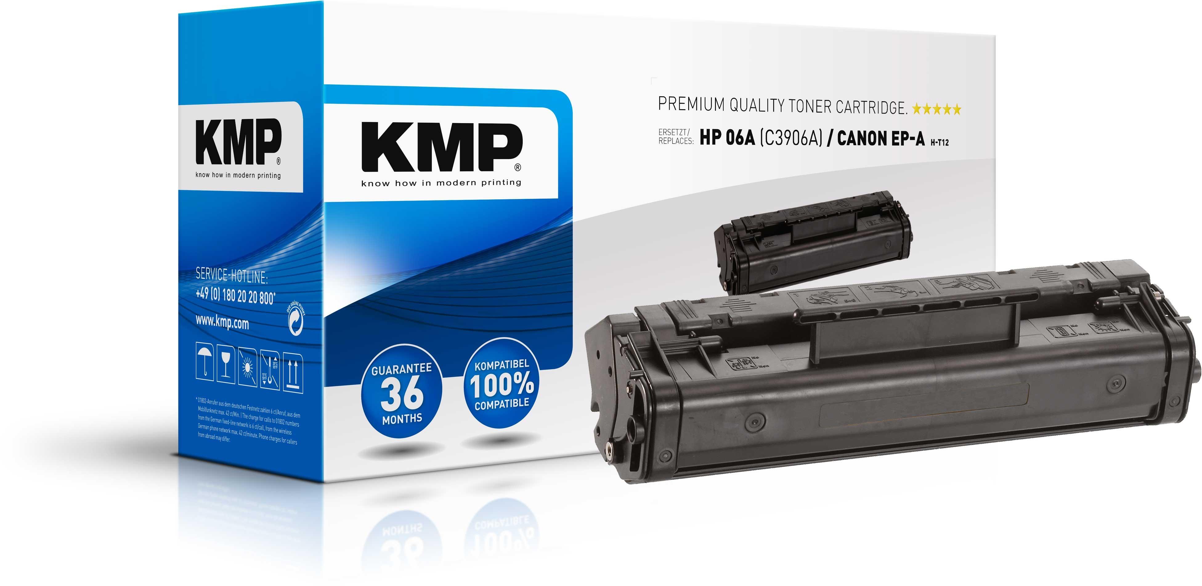 KMP Toner für HP C3906A Laserjet 5L / 6L / 3100 / 3150 Series