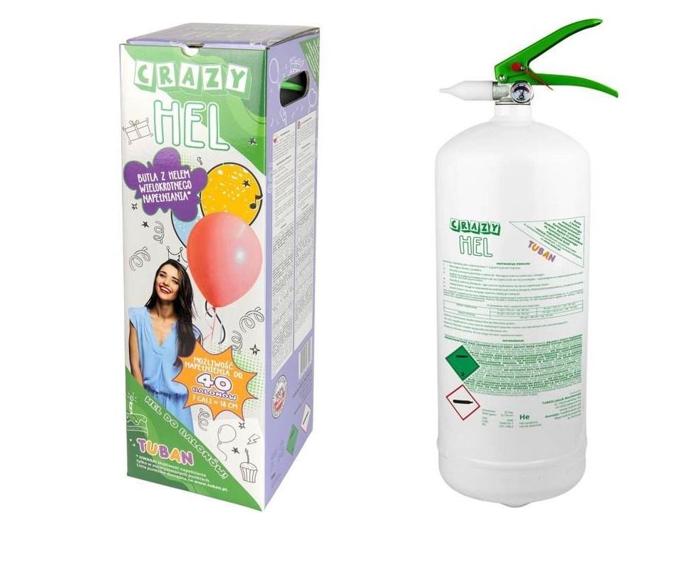 Tuban Crazy Hel XL Heliumgas Ballongas für 40 Luftballons Helium