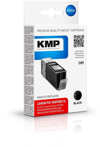 KMP Patrone C89 für Canon PGI-550PGBk XL Pixma IP7250 etc. black