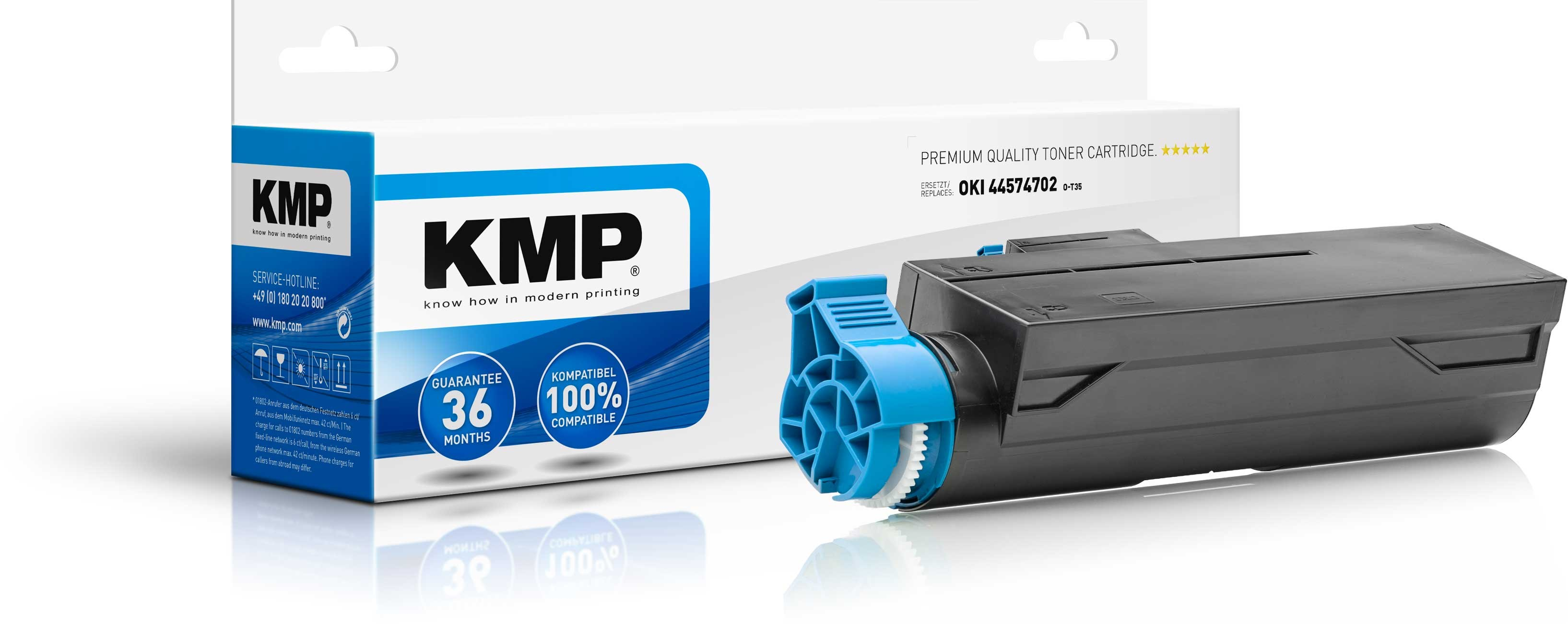 KMP Toner O-T35 für OKI 44574702 B4000 etc. black