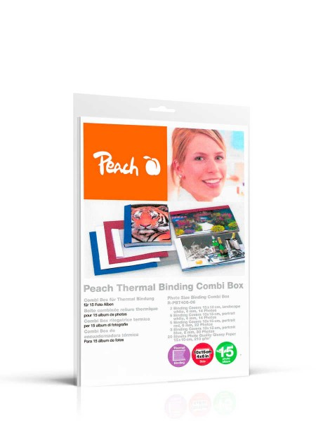 Peach R-PBT406-06 Combi Box für 15 Fotoalben, 10 x 15 cm, weiß