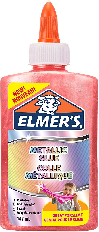 Elmer's Metallic-PVA-Kleber | ideal zur Herstellung von Schleim | auswaschbar | pink | 147 ml | 1 St