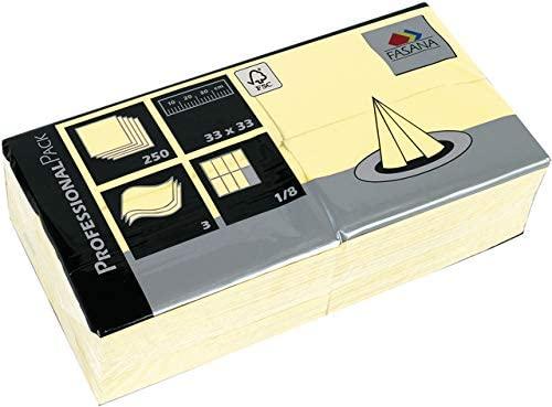 Servietten Fasana 250 Stück | 3-lagige Papierservietten in vielen Farben | Serviette 1/8-Falz Größe: