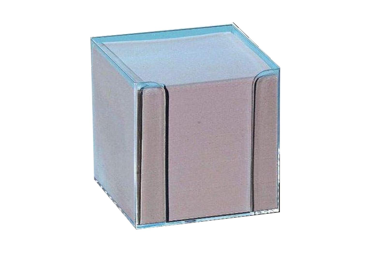 Folia Notizboxen Glasklar Weiß Büroaccessoires Büro Schule