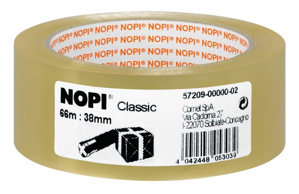 GP: 0,02 EUR/m Nopipack Classic transparent 4042 66m x 38mm