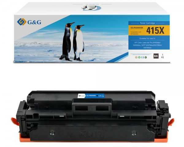 G&G XL-Toner kompatibel zu HP 415X/ W2030X (OHNE CHIP) Schwarz
