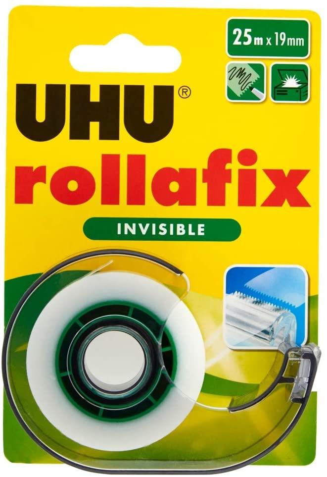 UHU 36970 Klebefilm rollafix invisible, inklusiv Handabroller