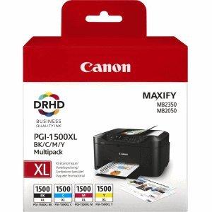 Original Canon Multipack PGI-1500XL Multi MAXIFY MB2050 etc. bk c m y
