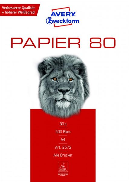 Avery Zweckform Papier 2575 - 80g/m² DIN-A4 500 Blatt weiß