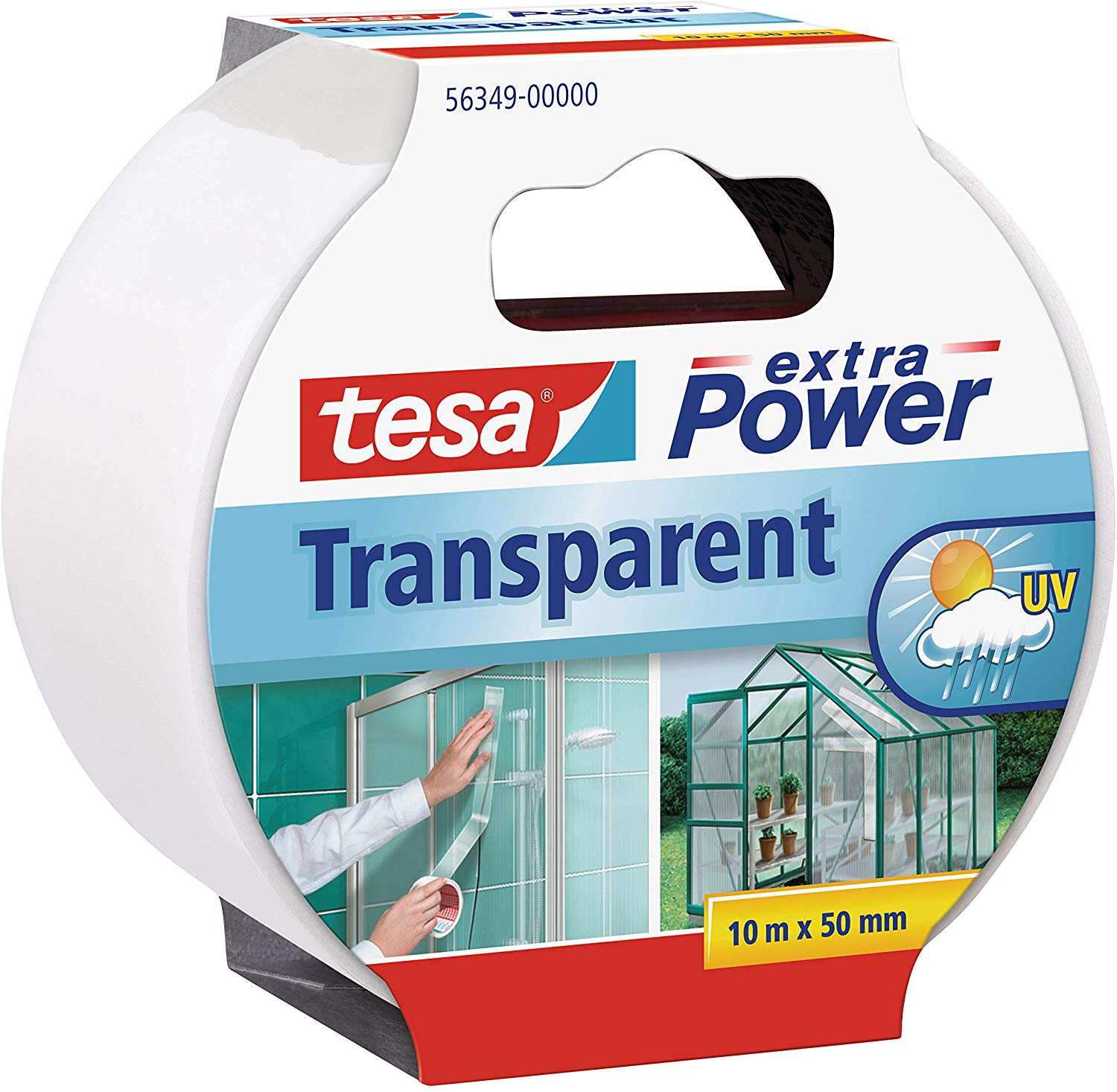 tesa Reparaturband extra Power, transparent, 10m x 50mm