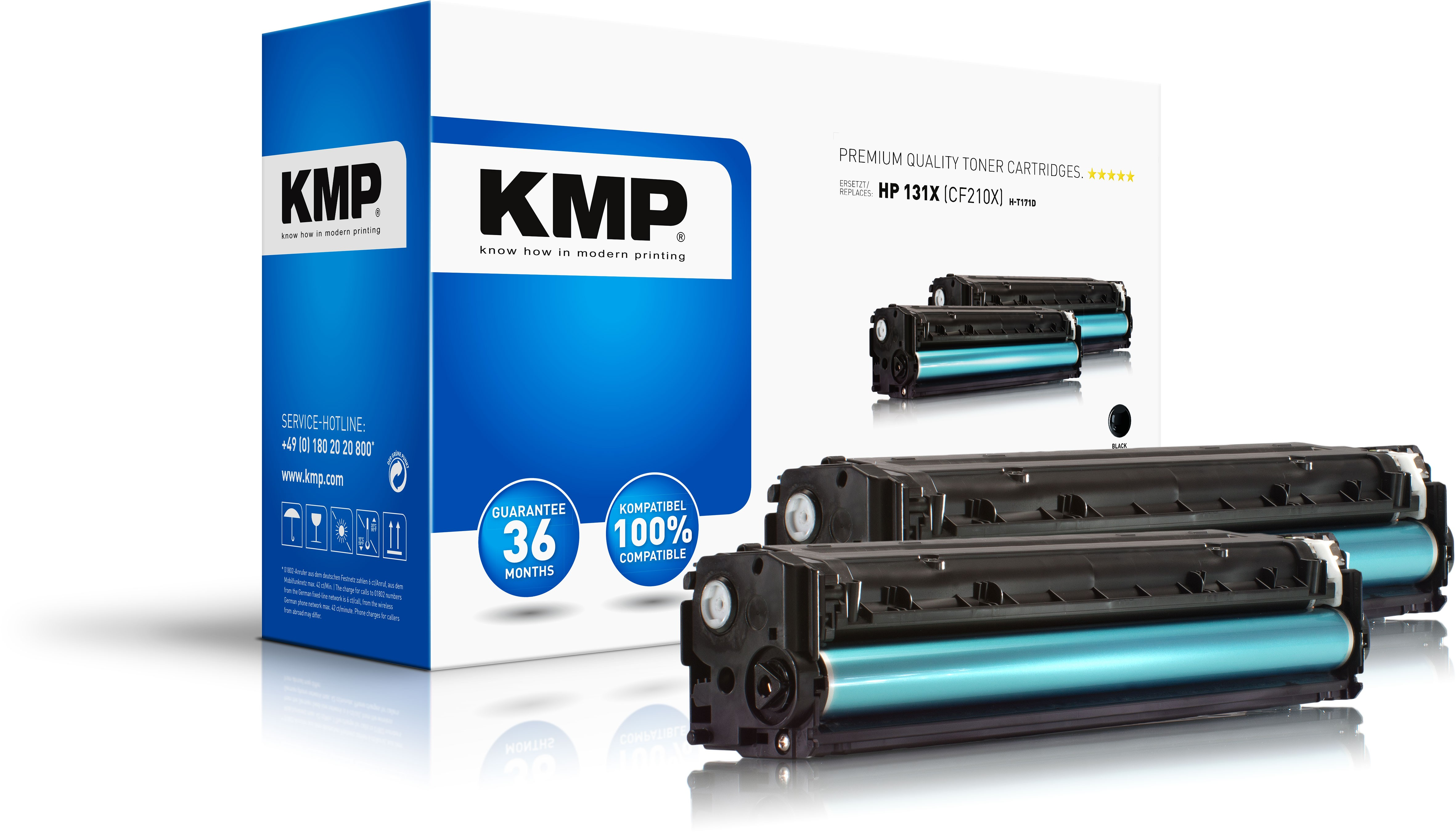 KMP DoppelpackToner H-T171D für HP CF210X Laserjet Pro 200 etc. black