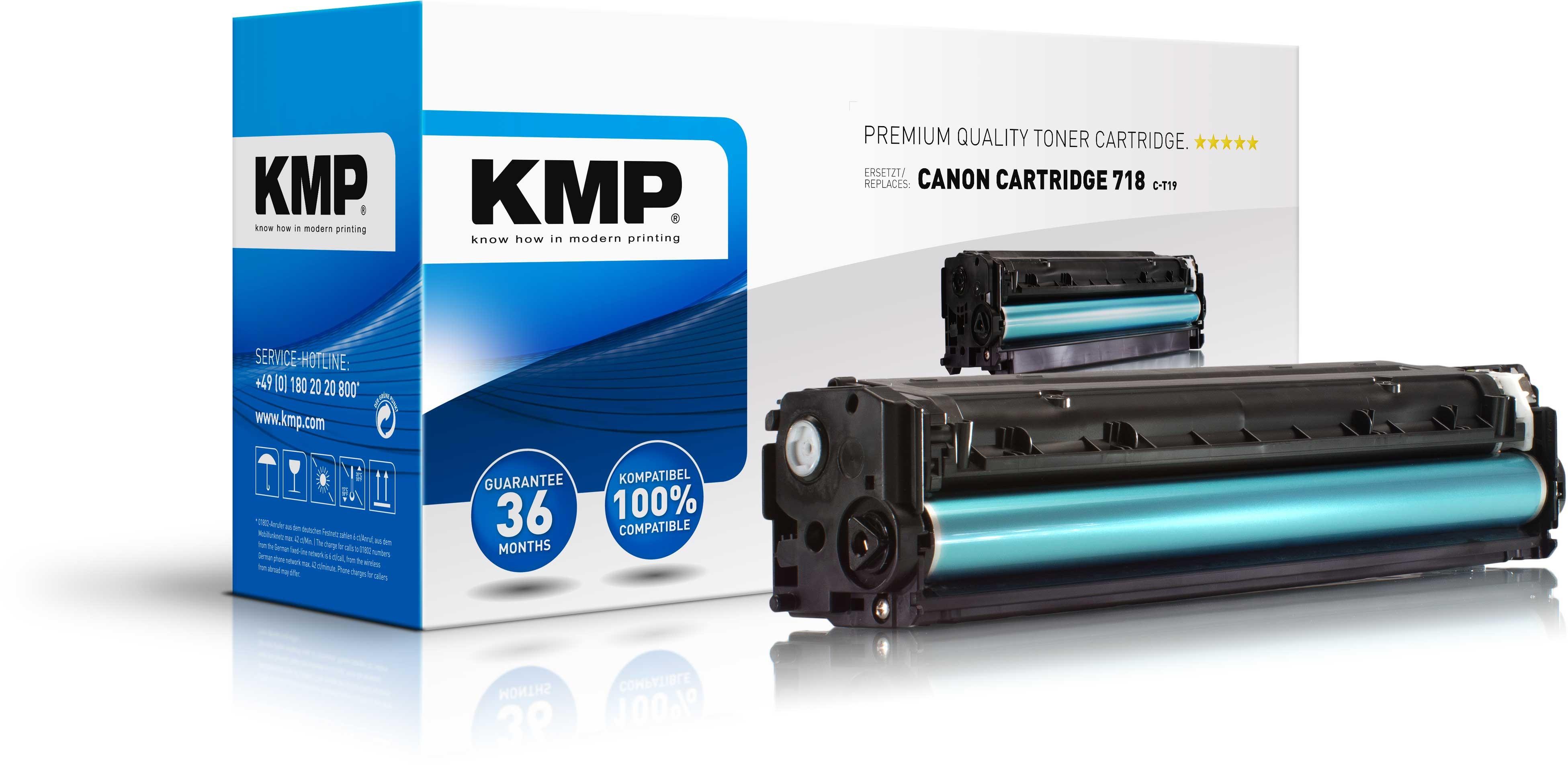 KMP Toner für Canon Cartridge 718 I-Sensys LBP-7200C schwarz C-T19