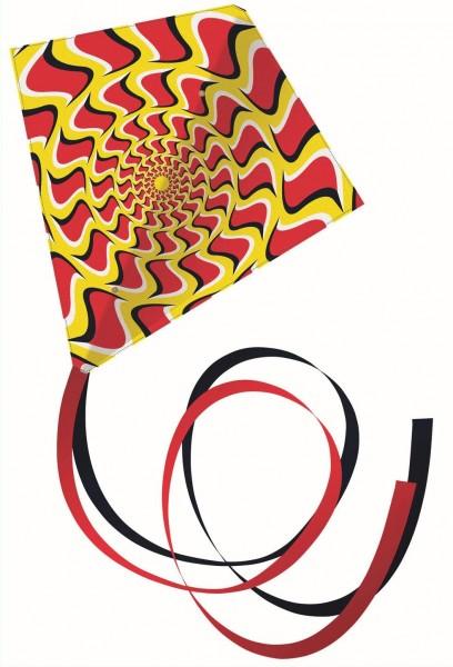 Paul Günther 1162 - Einleinerdrachen Illusion, farbenprächtiger Drachen mit 2 langen Schwänzen, mit