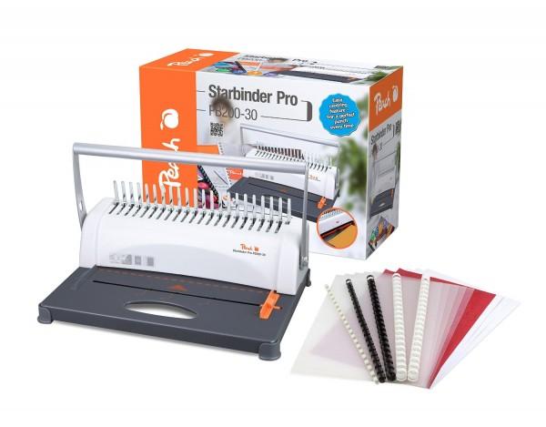 Peach PB200-30 Plastikbindegerät | Star Binder Pro - DIN-A4 | Preis-/Leistungs-Sieger* | bindet 350