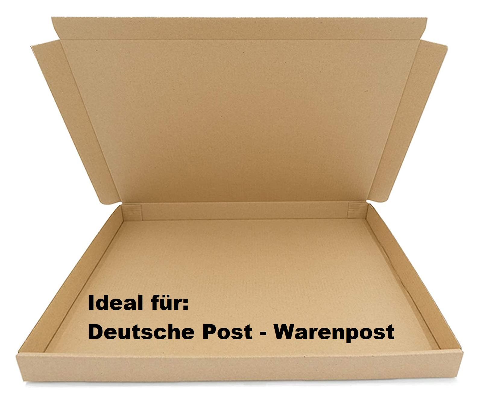 SAD Warenpostkartons 350x250x30mm Postkarton für Warenpost International XS geeignet - DIN A4 Format