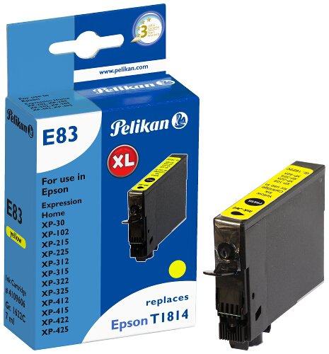 Pelikan Patrone E83 komp. zu Epson T1814 XP-30 / 102 etc. yellow