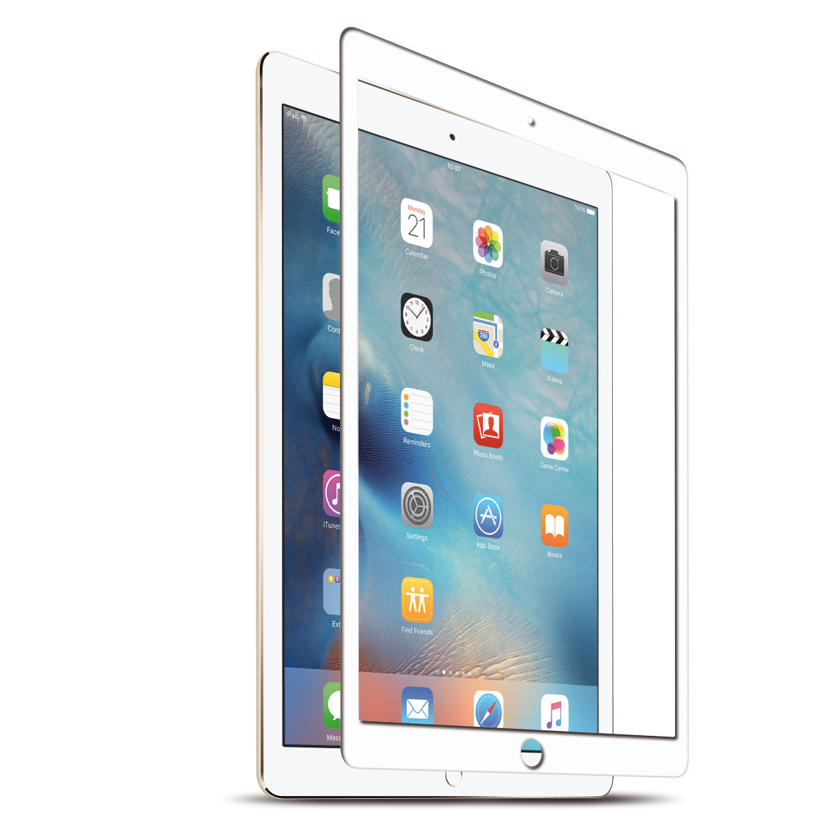 KMP Protective Glass Schutzfolie für iPad Mini 4, weiß