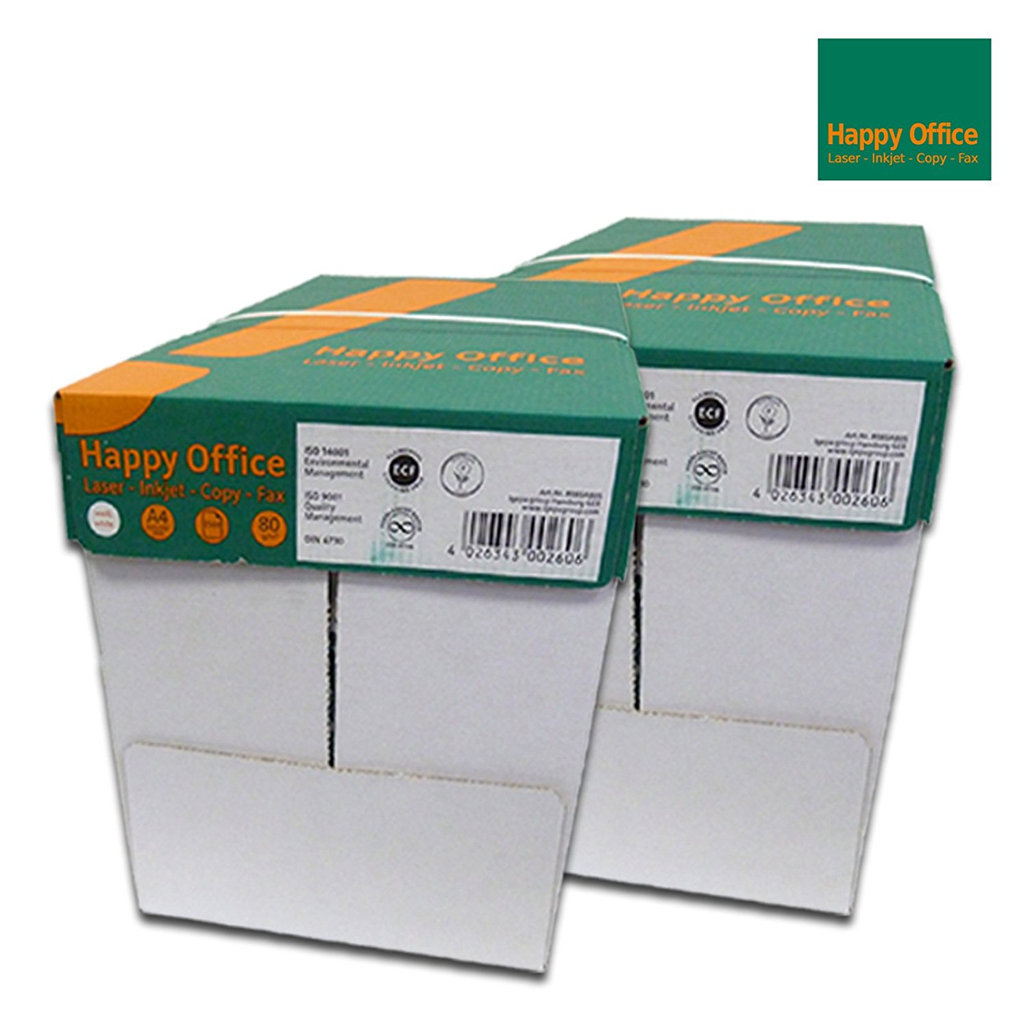 Happy Office Kopierpapier 5000 Blatt 80g/m² DIN-A4 weiß