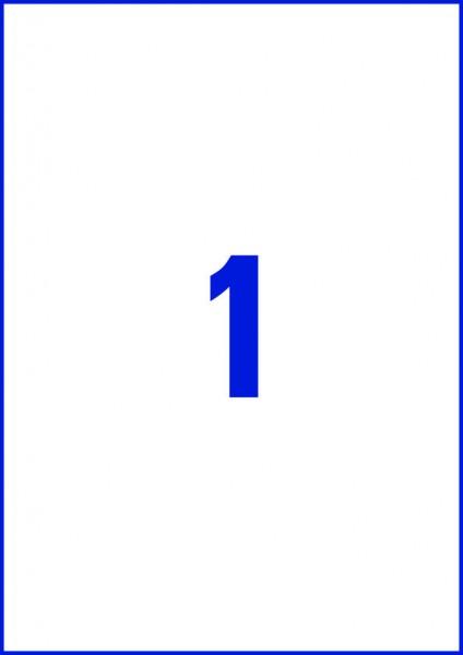 Avery Zweckform L8001-10 Antimikrobielle Etiketten weiß, 210 x 297 mm, 10 Bogen/10 Etiketten, weiß