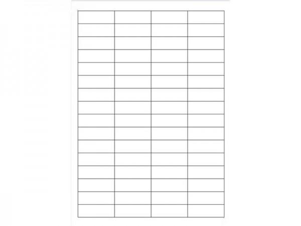 Igepa Etiketten 48,3 x 16,9 mm 100 Blatt in weiß