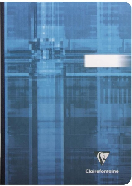 Clairefontaine 9540C Kladde Softcover, DIN A5, gebunden, blanko, 96 Blatt, farbig sortiert, 1 Stück