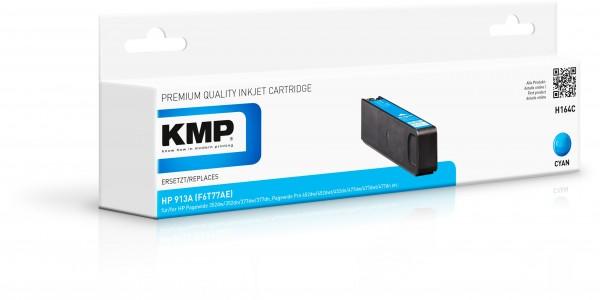 KMP Patrone H164C für (F6T77AE) HP 913A HP PageWide 352 dw HP PageWide MFP 377 dw etc. cyan