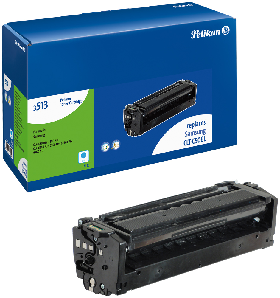 Pelikan Toner für Samsung CLT-C506L CLP-680 DW etc. cyan