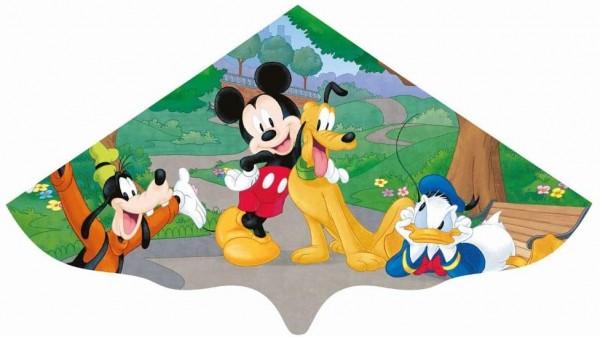 Paul Günther 1109 - Kinderdrachen mit Disney Mickey Mouse Motiv, Einleinerdrachen aus robuster PE-Fo