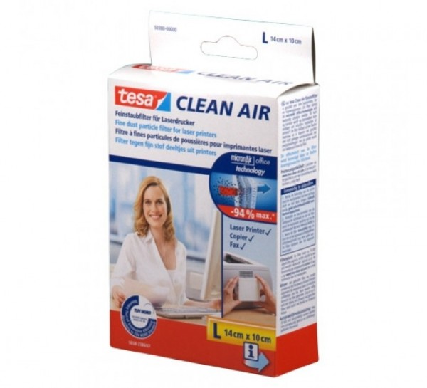 tesa Clean Air Feinstaubfilter für Laserdrucker L (14x10cm)