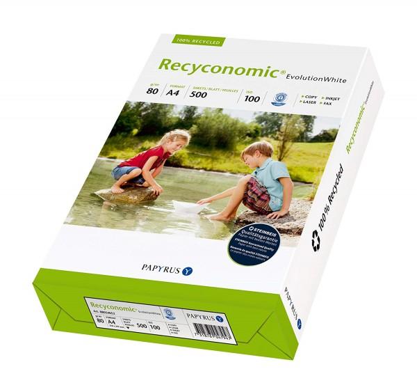 Papyrus 88054052 Recycling-Papier, Druckerpapier Recyconomic EvolutionWhite 80 g/m ² DIN-A4, 500 Bla