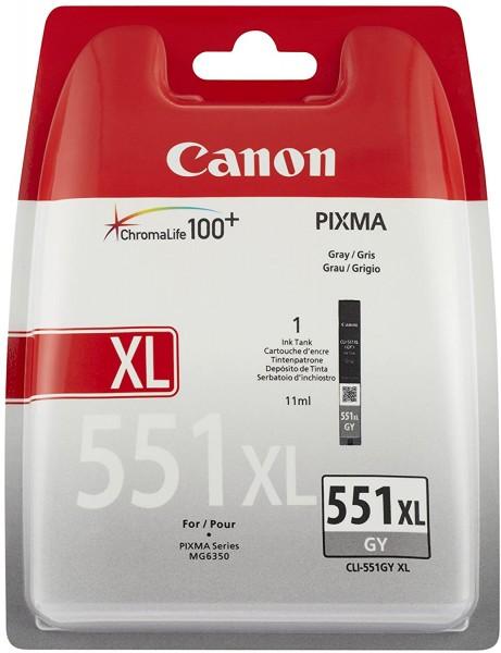 Canon CLI-551 XL GY Druckertinte - Grey hohe Reichweite 11 ml für PIXMA Tintenstrahldrucker ORIGINAL