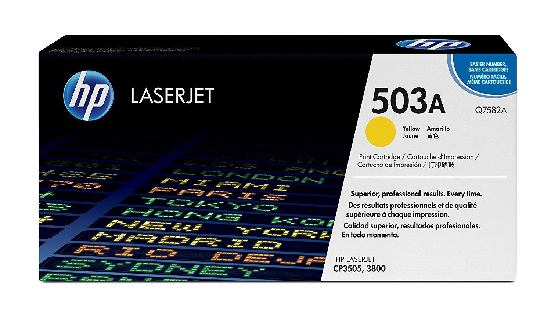 Vorschau: Original HP Toner Q7582A für COLOR LASERJET CP3505 / 3800 Serie yellow