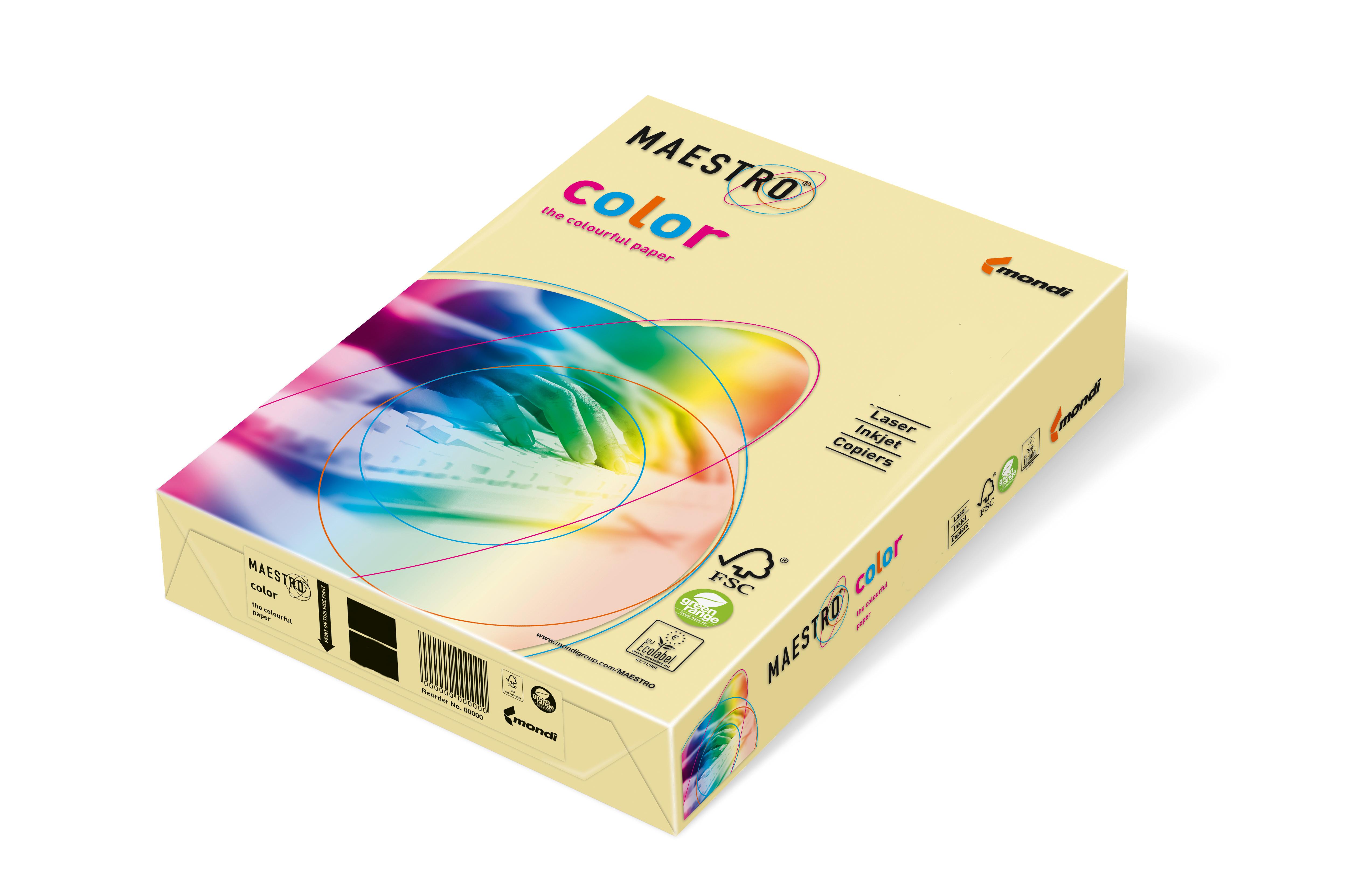 Vorschau: Mondi Maestro Color vanille 80g/m² DIN-A4 - 500 Blatt BE66