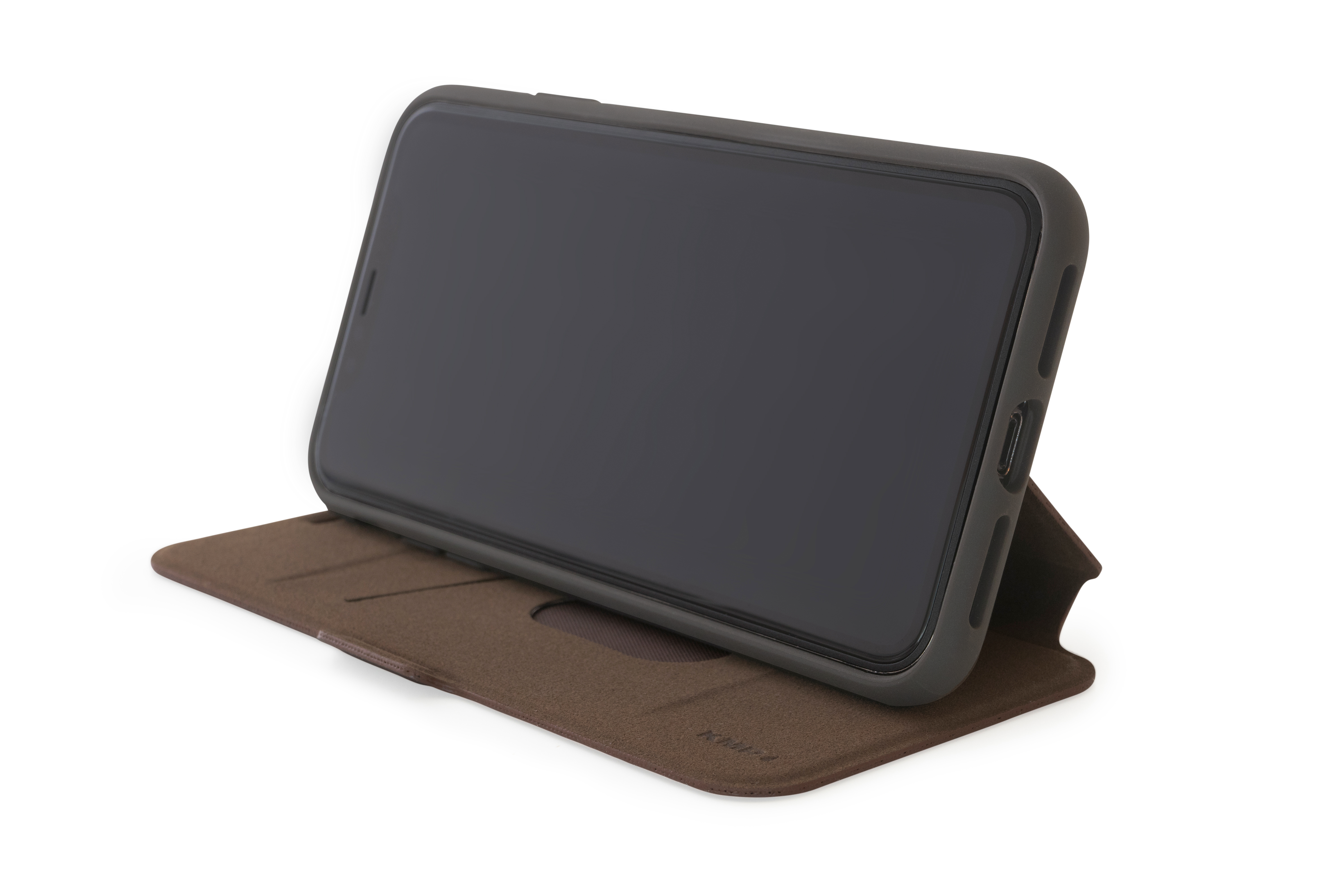KMP Bookcase für iPhone XS Max-choco brown
