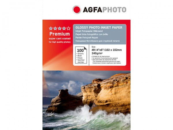 AGFA Photo Fotopapier glänzend 240 g/m² 100 Blatt 10 x 15 cm