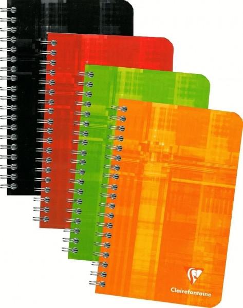 Clairefontaine 8606C Spiralheft (liniert, 11 x 17 cm, 90 Blatt) 1 Stück farbig sortiert