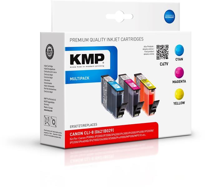 KMP Vorteilspack C67V Canon PIXMA iP4200 4300 5200 MP500