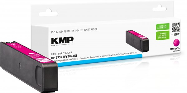 KMP H165MX magenta Tintenpatrone ersetzt HP Page Wide Pro HP 973XL (F6T82AE)