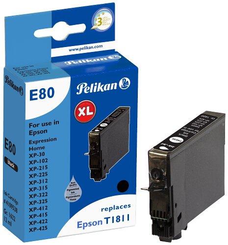 Pelikan Patrone E80 komp. zu Epson T1811 XP-30 / 102 etc. black