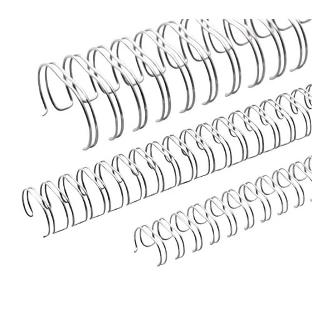 Renz Ring Wire Drahtkamm-Bindeelemente in 3:1 Teilung, 34 Schlaufen, Durchmesser 6.9 mm, 1/4 Zoll, s