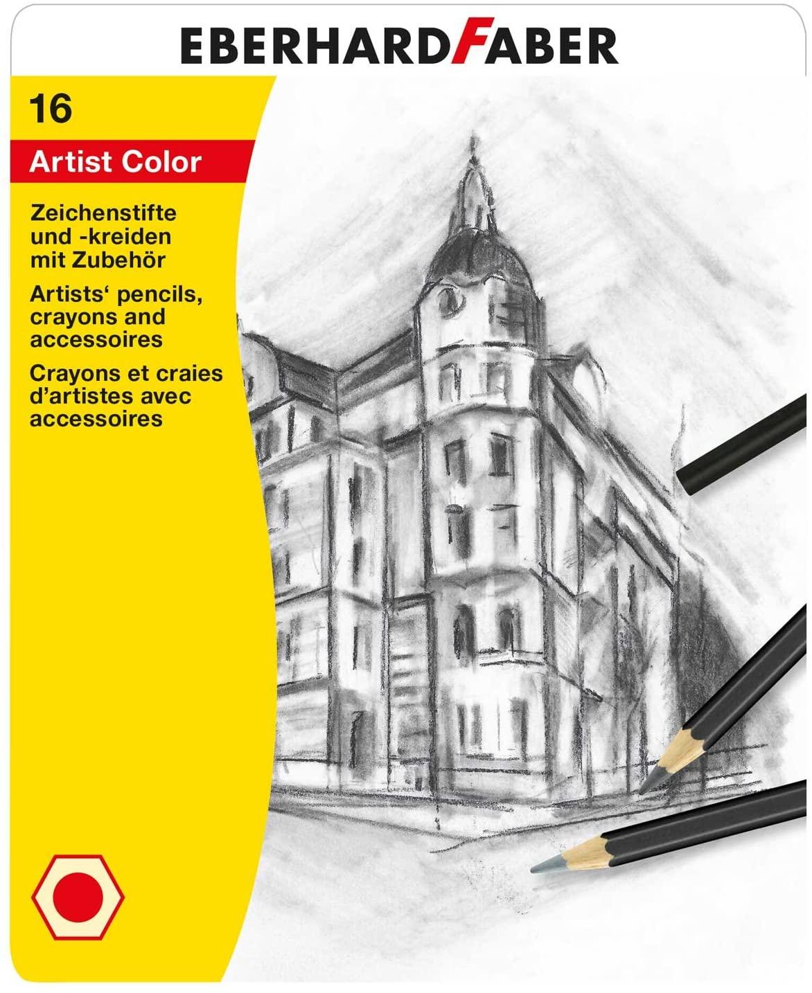 Eberhard Faber 516916 - Zeichenset Artist Color, 16 teilig