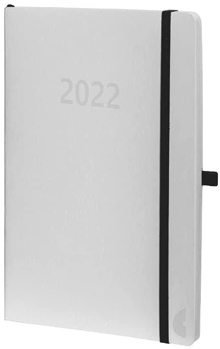 Chronoplan 50972 Buchkalender Kalendarium 2022, im handlichen Mini Format (ca. A6, 95x140mm) mit Sof