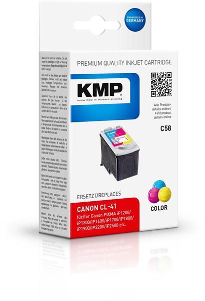 KMP Patrone C58 komp. CL-41 Canon PIXMA iP1300 1600 2200 color