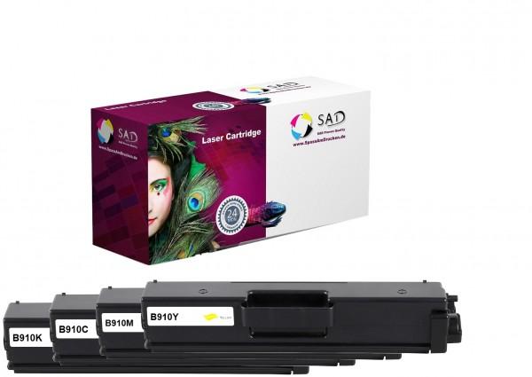 4er Pack SAD Premium Toner komp. zu Brother TN-910 BK C M Y
