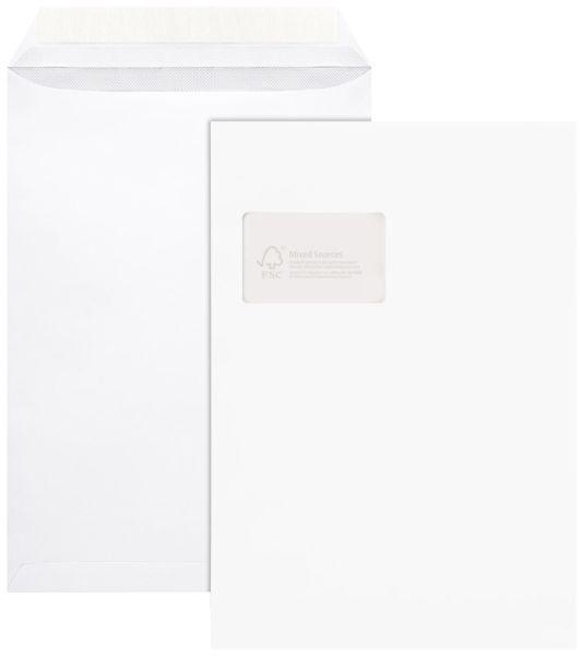 Elepa - rössler kuvert FSC® Versandtaschen, mit Fenster, haftklebend, 100 g/qm, C4 (229x324 mm), 100